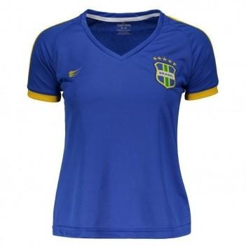Camisa Super Bolla Brasil Pro 2018 Azul Feminina