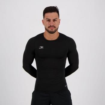 Camisa Térmica Penalty Matis X UV Manga Longa Preta