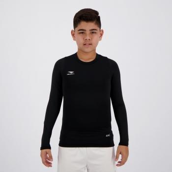 Camisa Térmica Penalty Matis X UV Juvenil Manga Longa Preta