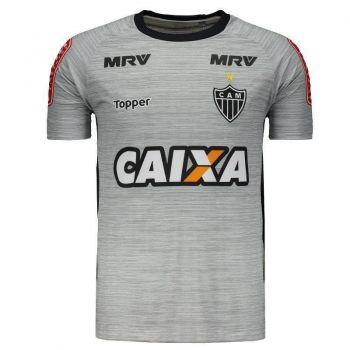 Camisa Topper Atlético Mineiro Treino Atleta 2017 Cinza