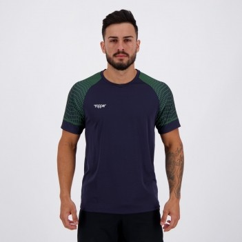 Camisa Topper Graphic Ultra Marinho e Verde