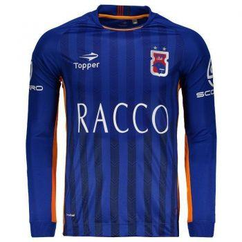 Camisa Topper Paraná Clube Goleiro 2016 Manga Longa Azul