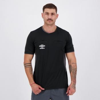 Camisa Umbro Árbitro TWR Fit Preta e Grafite