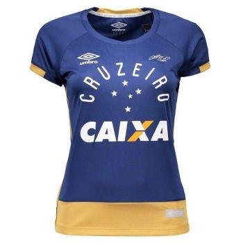 Camisa Umbro Cruzeiro Goleiro 2016 Azul Feminina