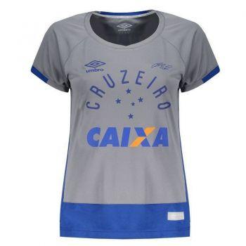 Camisa Umbro Cruzeiro Goleiro 2016 Cinza Feminina