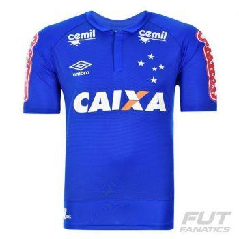 Camisa Umbro Cruzeiro I 2016 com Patrocínio