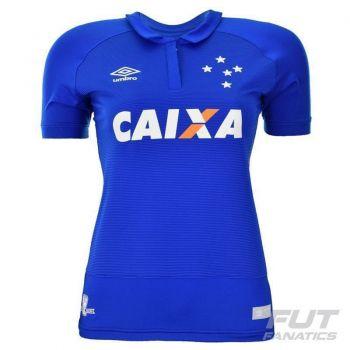 Camisa Umbro Cruzeiro I 2016 Feminina
