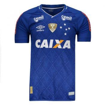 Camisa Umbro Cruzeiro I 2017 Jogador com Patch