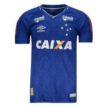 Camisa Umbro Cruzeiro I 2017 Jogador com Patrocíni