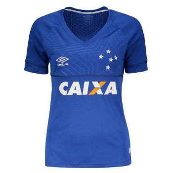 Camisa Umbro Cruzeiro I 2018 Feminina com Patrocínio