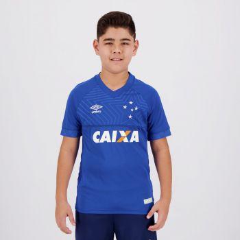 Camisa Umbro Cruzeiro I 2018 Juvenil Com Patrocínio