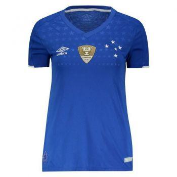 Camisa Umbro Cruzeiro I 2019 Feminina Patch Copa do Brasil