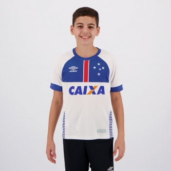 Camisa Umbro Cruzeiro II 2018 Blar Víkingur Juvenil