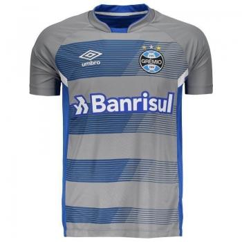 Camisa Umbro Grêmio Treino 2017 Cinza