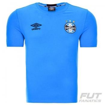 Camisa Umbro Grêmio Concentração 2016 Azul