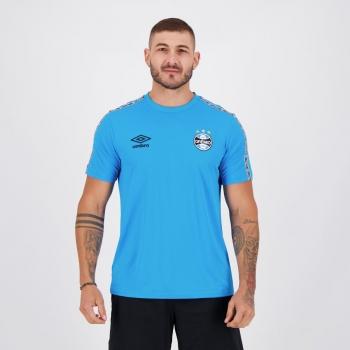 Camisa Umbro Grêmio Concentração 2021 Azul