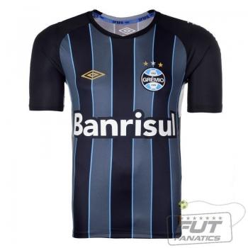 Camisa Umbro Grêmio Goleiro II 2015 Preta e Azul