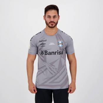 Camisa Umbro Grêmio Goleiro 2020 Cinza Final Copa do Brasil