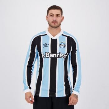 Camisa Umbro Grêmio I 2021 Manga Longa