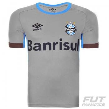 Camisa Umbro Grêmio Treino 2016 Cinza