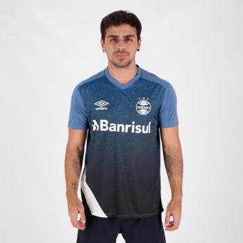 Camisa Umbro Grêmio Treino 2020 Azul e Branca
