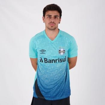 Camisa Umbro Grêmio Treino 2020 Celeste e Preta