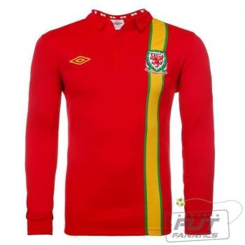 Camisa Umbro País de Gales Home 2013 M/L