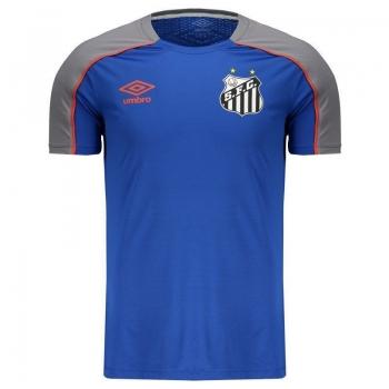 Camisa Umbro Santos Treino 2019 Azul