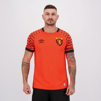 Camisa Umbro Sport Recife Goleiro 2021 Laranja Fluorescente