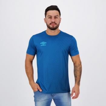 Camisa Umbro TWR Graphic Pro Velocita Azul Petróleo