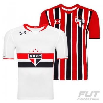Camisa Under Armour São Paulo I 2015 + Camisa São