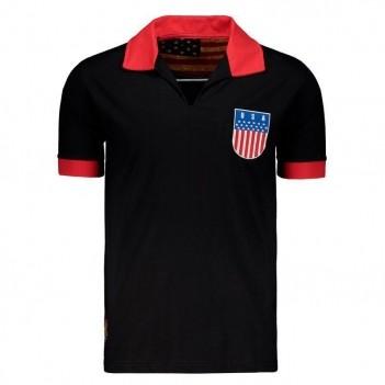 Camisa USA Retrô Preta