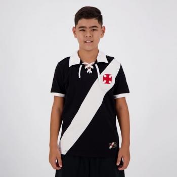 Camisa Vasco da Gama Retrô Cordinha Juvenil