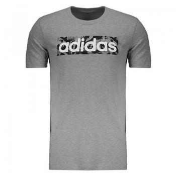 Camiseta Adidas AOP Box Cinza Mescla