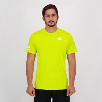 Camiseta Adidas Club 3 Stripes Amarela