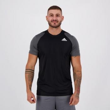 Camiseta Adidas Club Preta e Cinza
