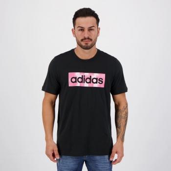 Camiseta Adidas Color Box Preta e Rosa
