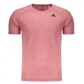 Camiseta Adidas D2m Heathered Vermelha