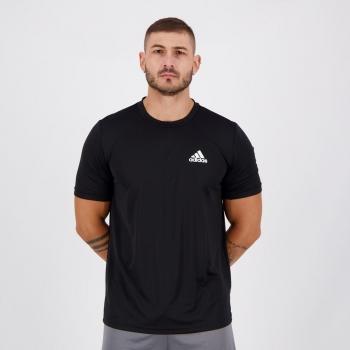 Camiseta Adidas D2M Plain Preta