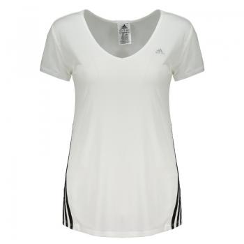 Camiseta Adidas Ess Clima 3s Lw Branca Feminina