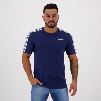 Camiseta Adidas Essential 3 Stripes Azul