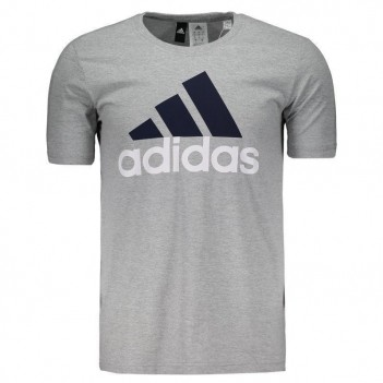Camiseta Adidas Essentials Cinza