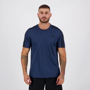 Camiseta Adidas Essentials 3S Performance Marinho