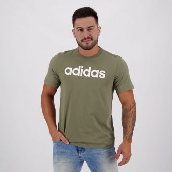 Camiseta Adidas Essentials Linear Verde