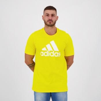 Camiseta Adidas Essentials Logo Amarela