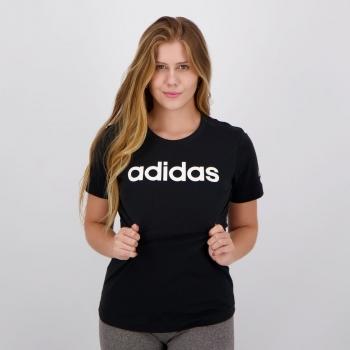Camiseta Adidas Essentials Slim Feminina Preta