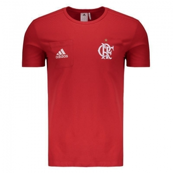 Camiseta Adidas Flamengo Viagem 2017 Vermelha