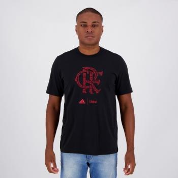 Camiseta Adidas Flamengo Paixão Rubro Negra