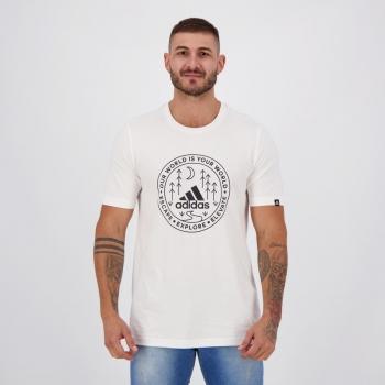 Camiseta Adidas Grafica Explorer Branca