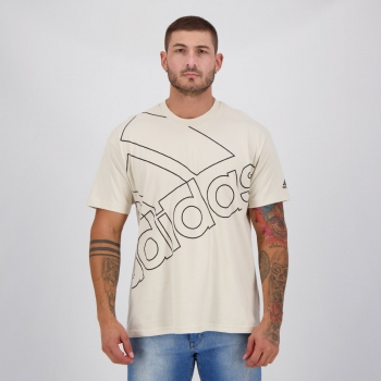 Camiseta Adidas Gráfica Favourites Q1 Bege